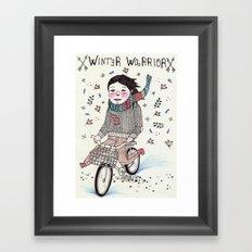 Winter Warrior Framed Art Print