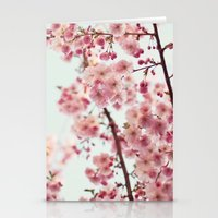 cherry blossoms Stationery Cards featuring Cherry blossoms by Photography by Karin A