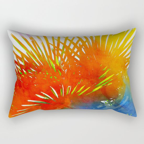 Enchanted Palm Leaves Rectangular Pillow