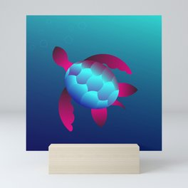 Golden Ratio Turtle Mini Art Print