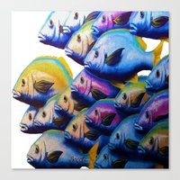 school Canvas Prints featuring school by Bocese