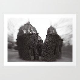 FANTASY HUTS Art Print