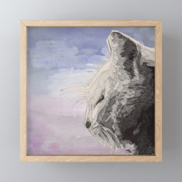 GeometriCat Framed Mini Art Print