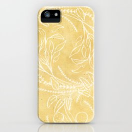Add Spice to your Life: herb toss ochre iPhone Case