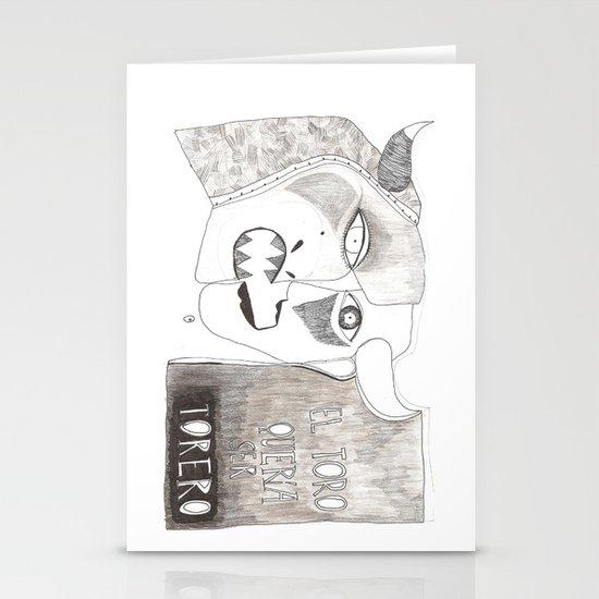 El toro que quería ser torero Stationery Cards