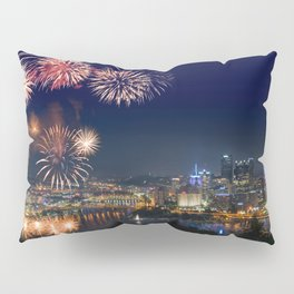 Fireworks over Pittsburgh on 4th July Pillow Sham