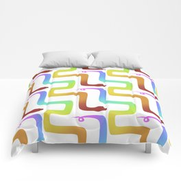 Rainbow Snake Comforters