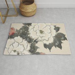 Japanese Kanagawa style painting (Kanagawa oki nami) Rug