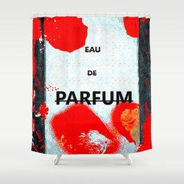 Parfum Box Red Splash Shower Curtain
