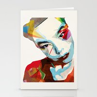 bjork Stationery Cards featuring Bjork by Zaneta Antosik