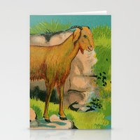 goat Stationery Cards featuring Goat! by Connie Goldman