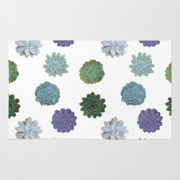Succulent plant pattern 2 Rug