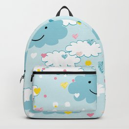 Children's pattern in happy clouds Backpack