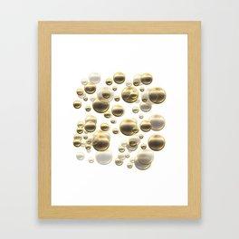 Gold Shower Framed Art Print