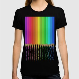 Melting Rainbow Pencils T-shirt