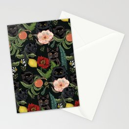 Botanical and Black Cats Stationery Cards