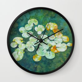 Tranquil lily pond Wall Clock