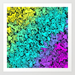 Bluster of Bats Art Print