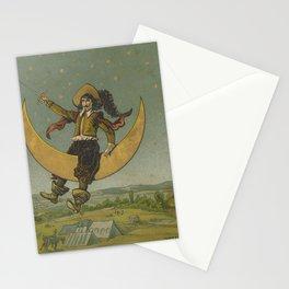 Cyrano de Bergerac on the moon Stationery Cards