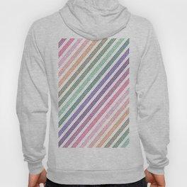 stripEs Pastel Rainbow Pixels Hoody