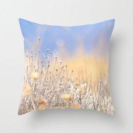 Mediterranean vegetation on Mallorca during summer Throw Pillow