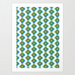 Absract flower Art Print