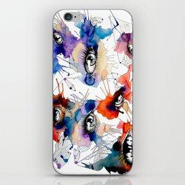 All Eyes by carographic, Carolyn Mielke iPhone Skin