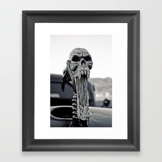 Skull ornament Framed Art Print