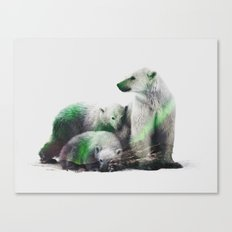 Arctic Polar Bear Family Canvas Print