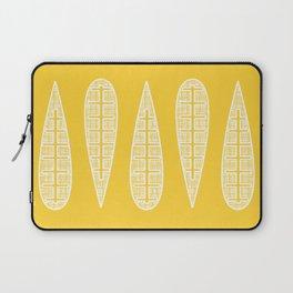 Golden Gum Leaves Laptop Sleeve