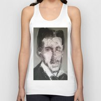 tesla Tank Tops featuring Tesla by Larry Caveney