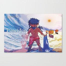 Poseidon - Chibi Mythology Canvas Print