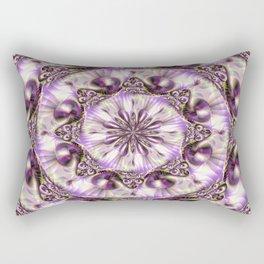 Purple Ornate Rectangular Pillow