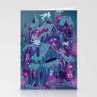 house Stationery Cards featuring December House by Valeriya Volkova
