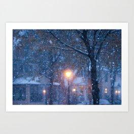 Morning Snowfall Art Print