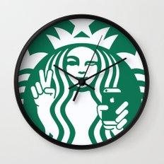 Selfie - 'Starbucks ICONS' Wall Clock