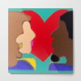 Heart of Love Series 3 Metal Print