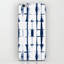 Shibori Stripes 4 Indigo Blue iPhone Skin
