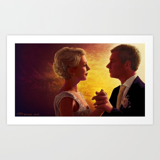 A happy couple Art Print