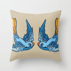 Swallow Tattoo Throw Pillow