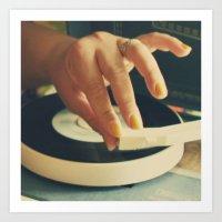 vinyl Art Prints featuring Vinyl by Gina Conti
