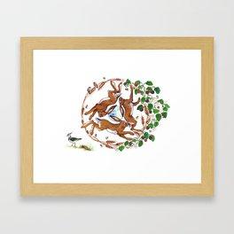 The Three Hares Framed Art Print