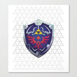Link - Hyrule Shield - zelda Canvas Print