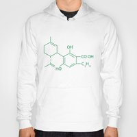 cannabis Hoodies featuring Cannabis Chemistry: CBD by WeedPornDaily