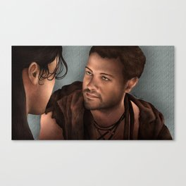 Nagron First Kiss (Agron, Spartacus) Color Version Canvas Print