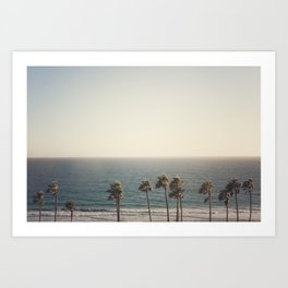 Golden Hour over Pacific Coast Highway Art Print