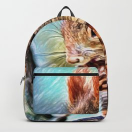 Chickaree Dream   Painting Backpack