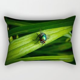 Mr. Blue-Bottle Rectangular Pillow