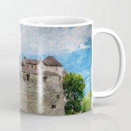 Vaduz Castle Digital Oil Painting Coffee Mug