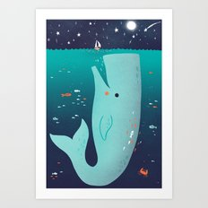 Jonah and the Whale Art Print